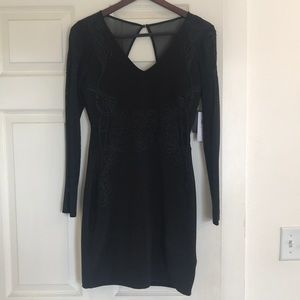 Guess black mesh back cocktail dress